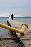 Alphornbläser Bayerische Rhön, Hochzeitsmusik, Hochzeitsständchen, Alphornbläser zur Hochzeit