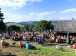 Alphornbläser Bayerische Rhön, Kreuzberg, Hüttenfest, Gemündener Hütte, Wanderhütte, Wirtshausmusikanten